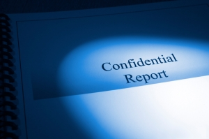 Confidential Report Blue Tone Brochure